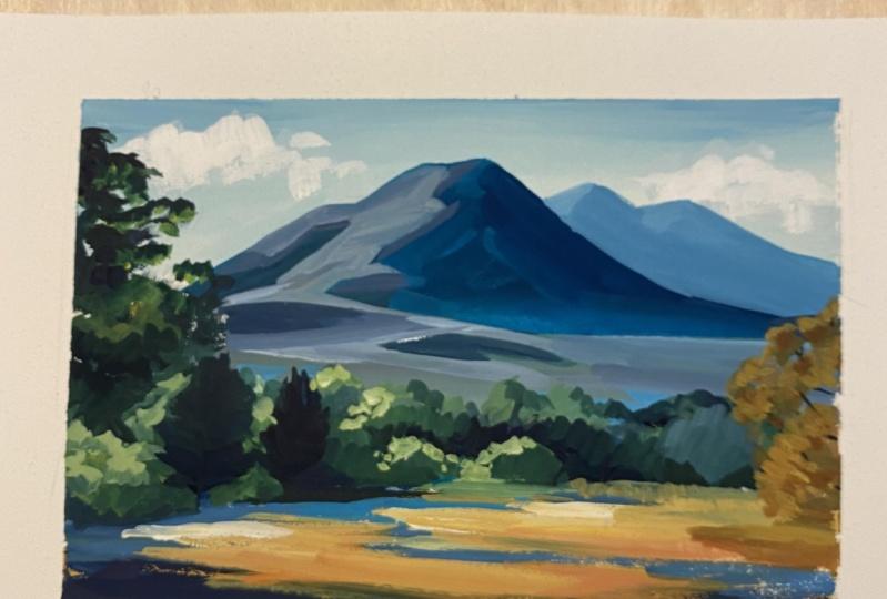 Gouache Mountain