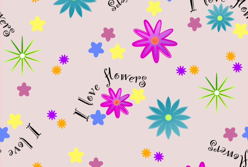 Simple Floral Repeat Pattern