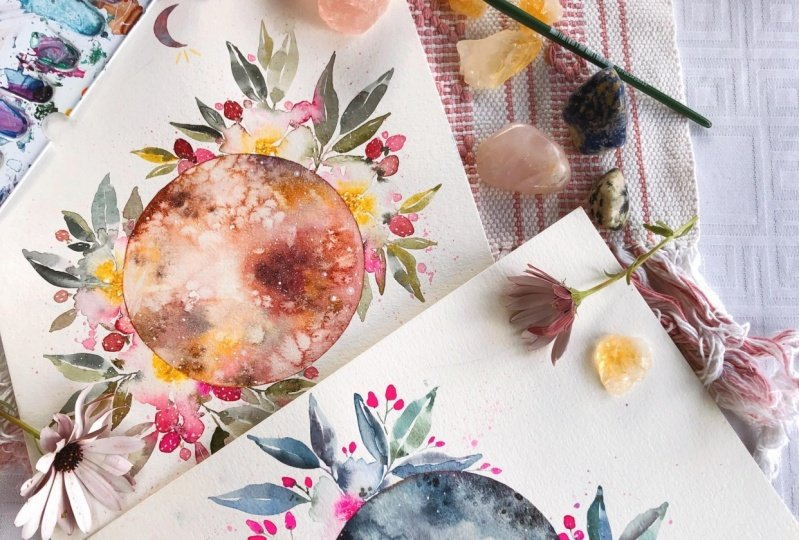 Sample Project Floral Moon