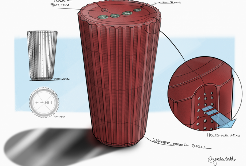 Waterproof Bluetooth Speaker Concept