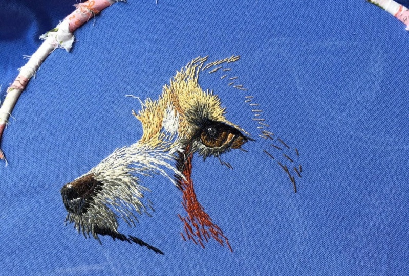 Painting with Thread -- a Terrier