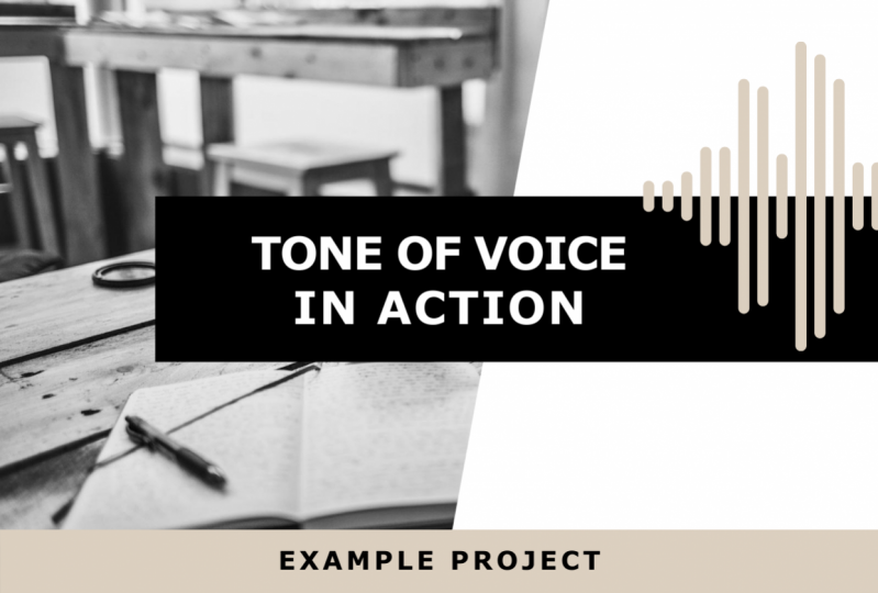 Tone of Voice in Action: Example Project