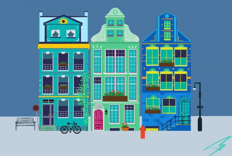 My colorful houses