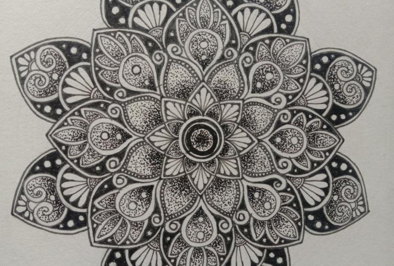 Happy with my Mandala progress