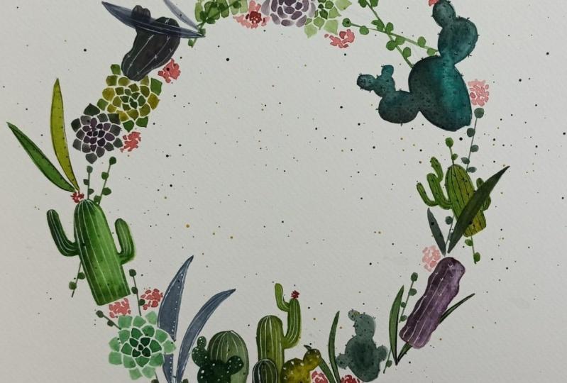 Cactus Wreath!