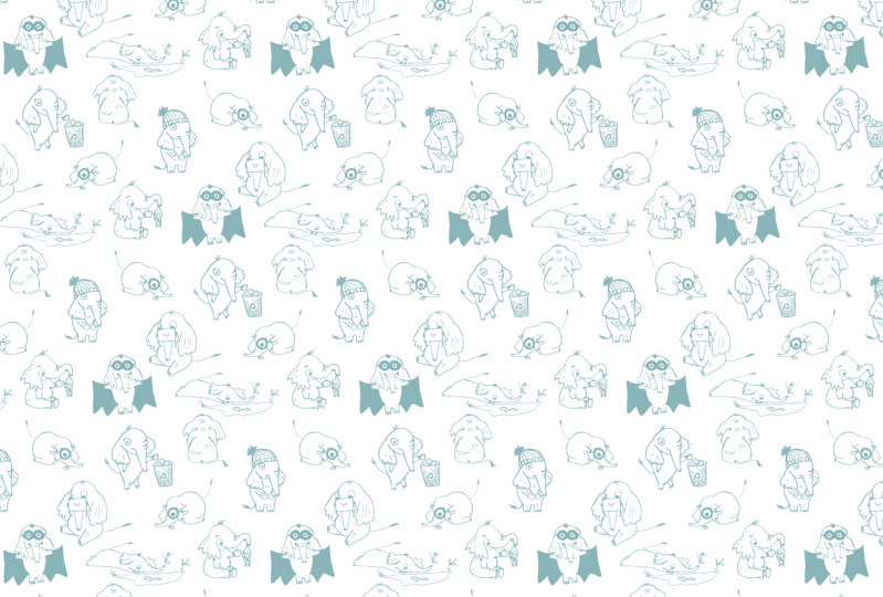 Elephant Endpapers