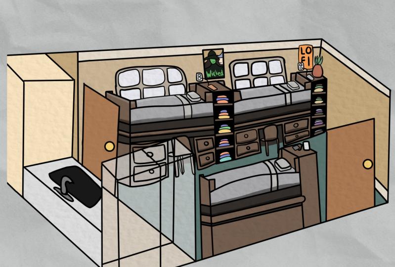 My Comic Character's Dorm Room