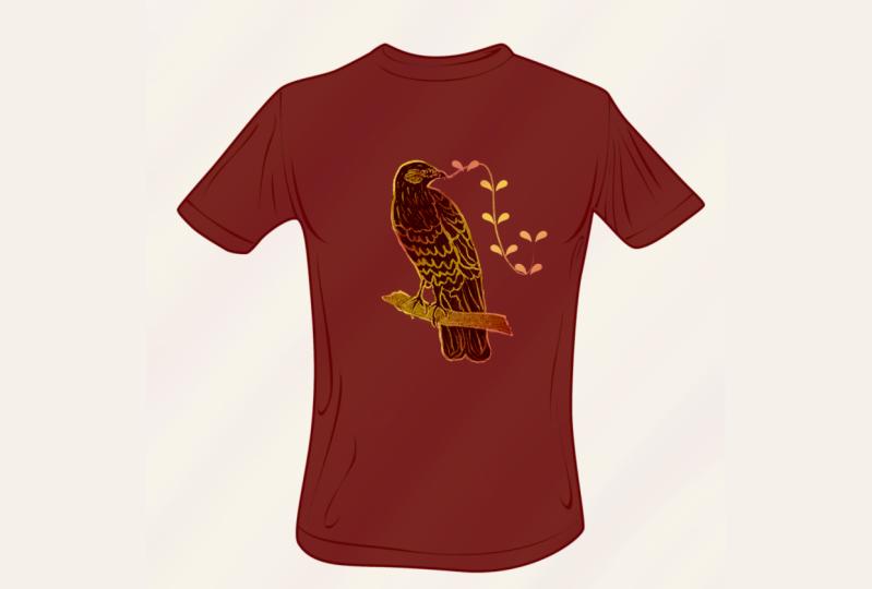 T-shirt bird design