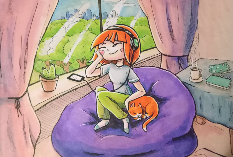 Staying Inside - An Illustration (with Jazza)