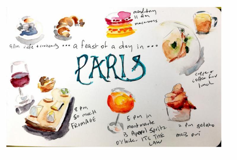 Food & Drink Sketching in Paris!