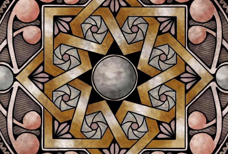 Alhambra Star mandala