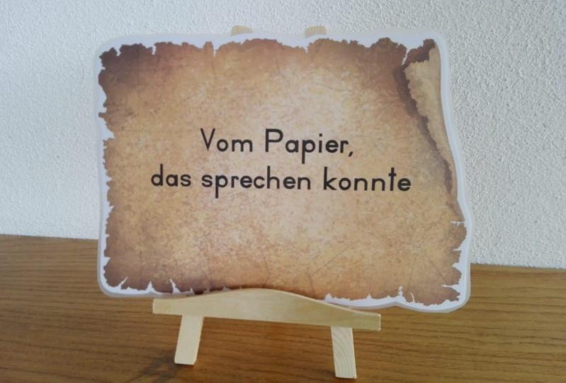 """Bilderserie """"Vom Papier, das sprechen konnte"""""""