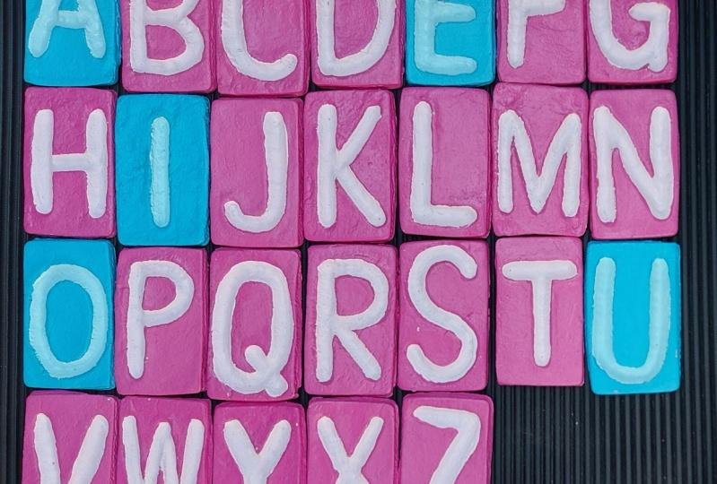 Spurbuchstaben aus Salzteig