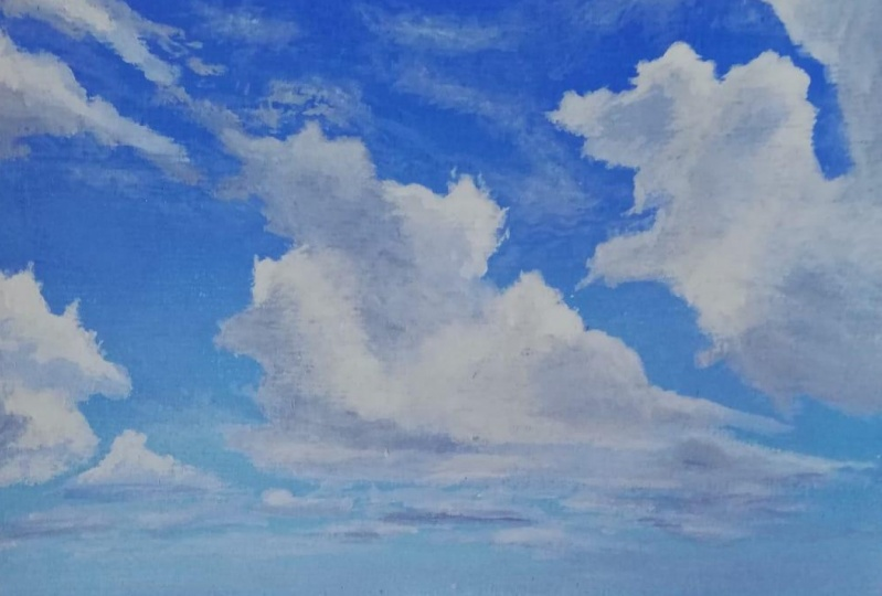 Clouds and Ocean painting