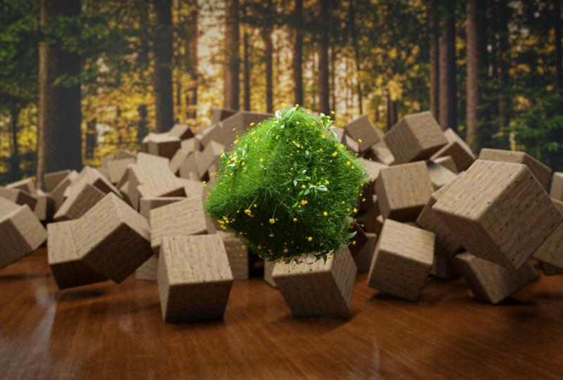 Grassy cube