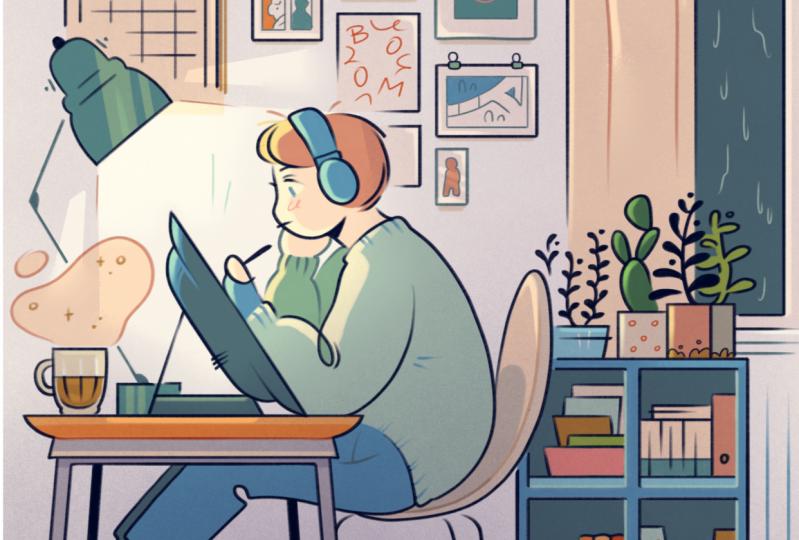 Blu's workspace