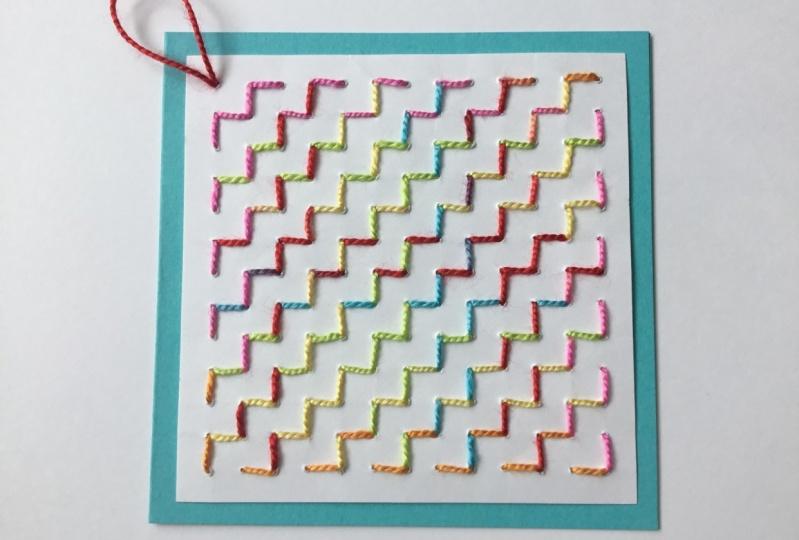 Sashiko Stitching on Paper