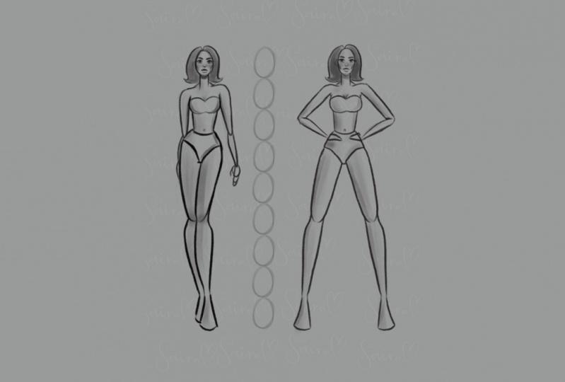 Figure drawing - Fashion illustration.