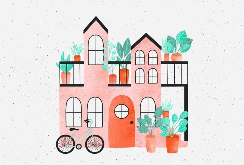 Illustrations with Layered Texture and Color