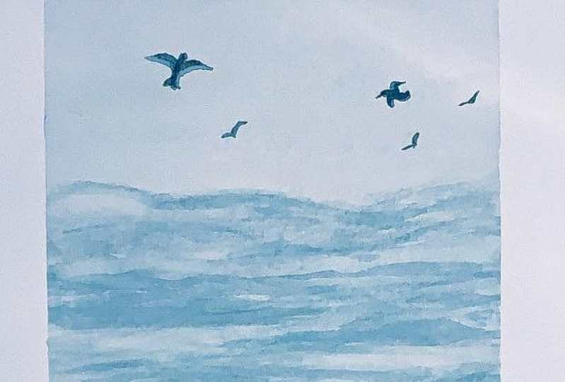 Watercolour Sea painting