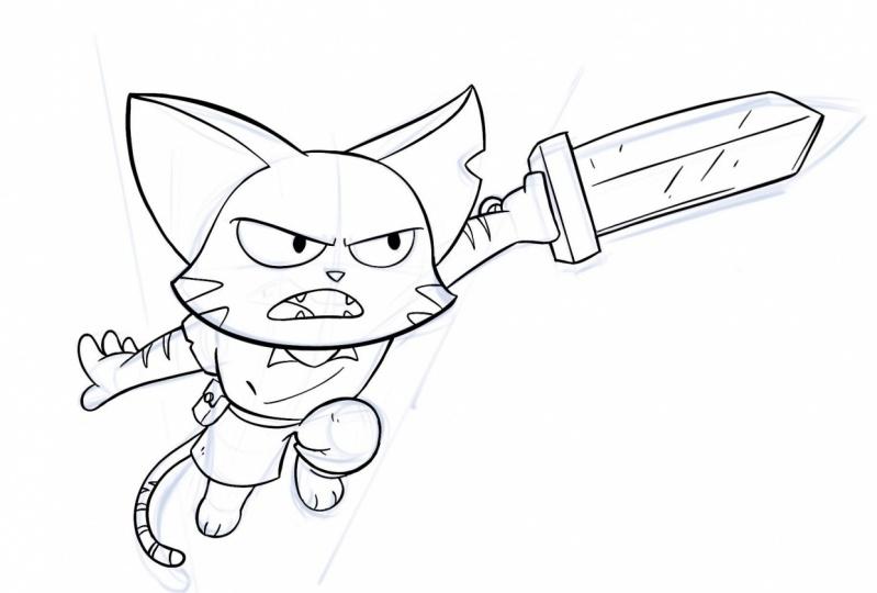 My comic protagonist: Scratch