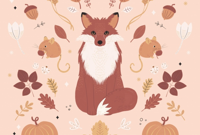 Autumn Woodland Fox