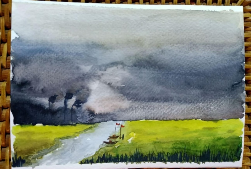 Stormy Sky Scene