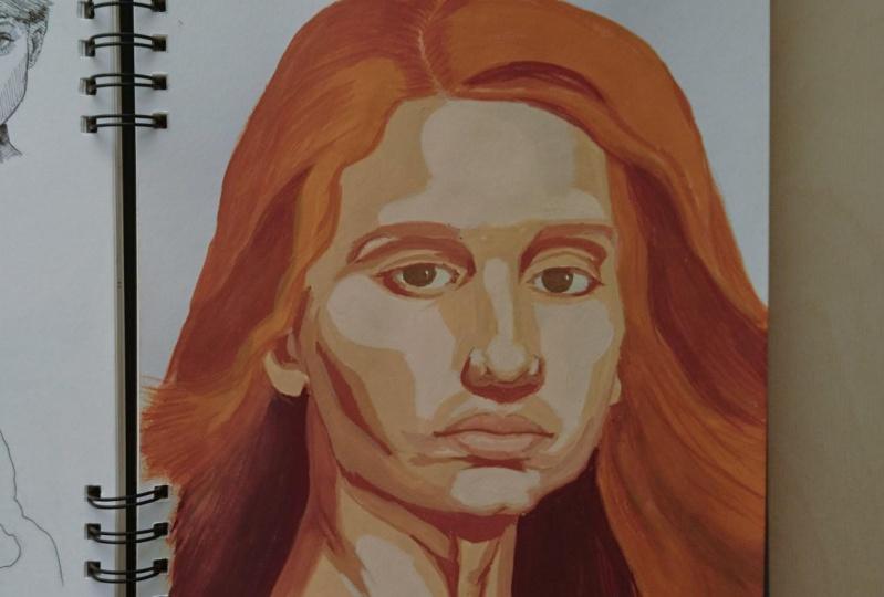 Gouache portrait for beginners