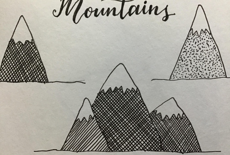 Fine liner Mountains