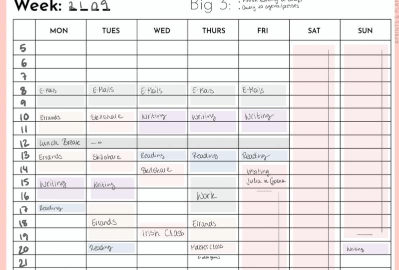Scheduling Efforts