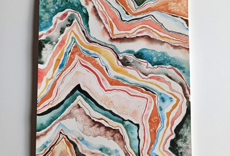 Abstract geode