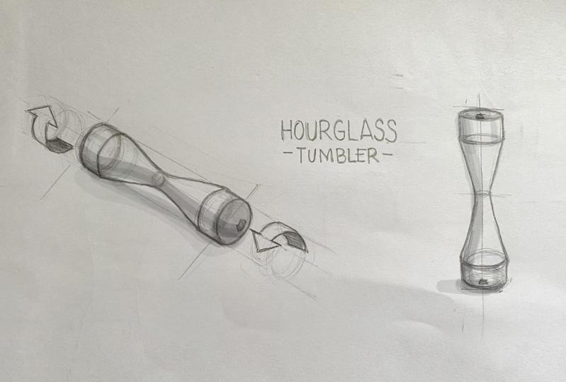 Hourglass Tumbler Design Study