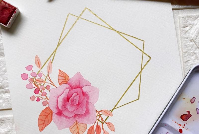 Minimalist Diamond Wreath