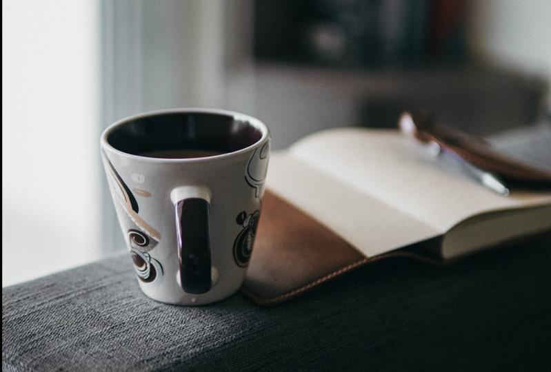 tea and journaling
