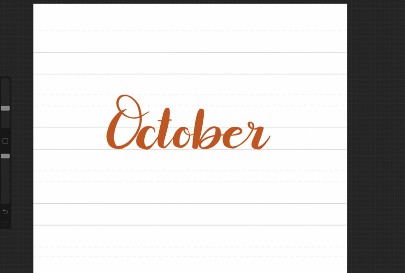 My first lettering!