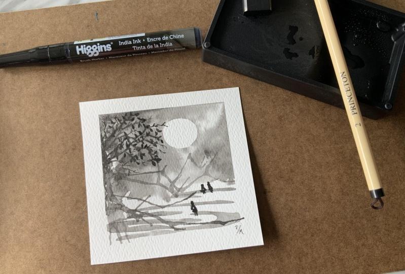 Gao Xing Jian Inspired Ink