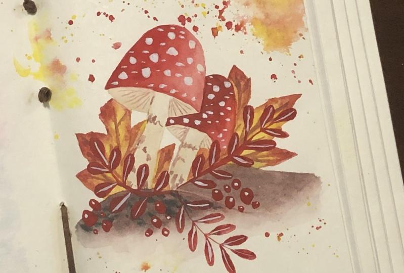 Autumn little Mushrooms