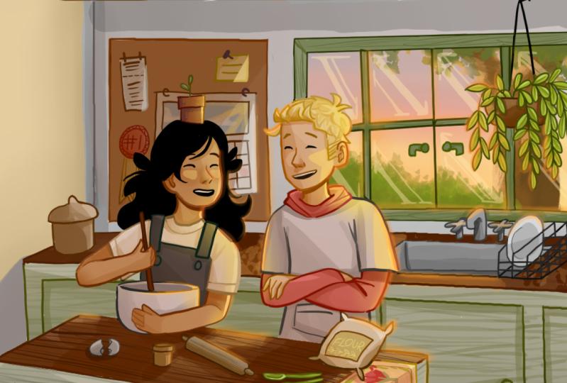 My OC's baking in the kitchen :))