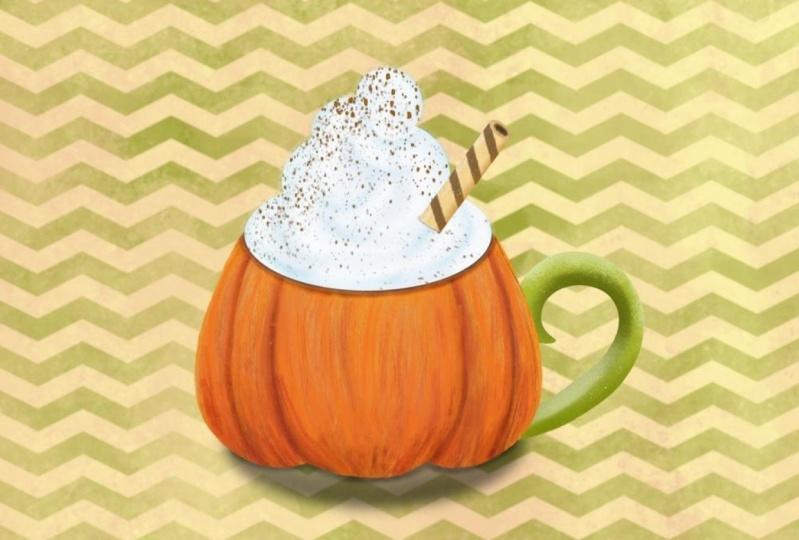Fall pumpkin chevron