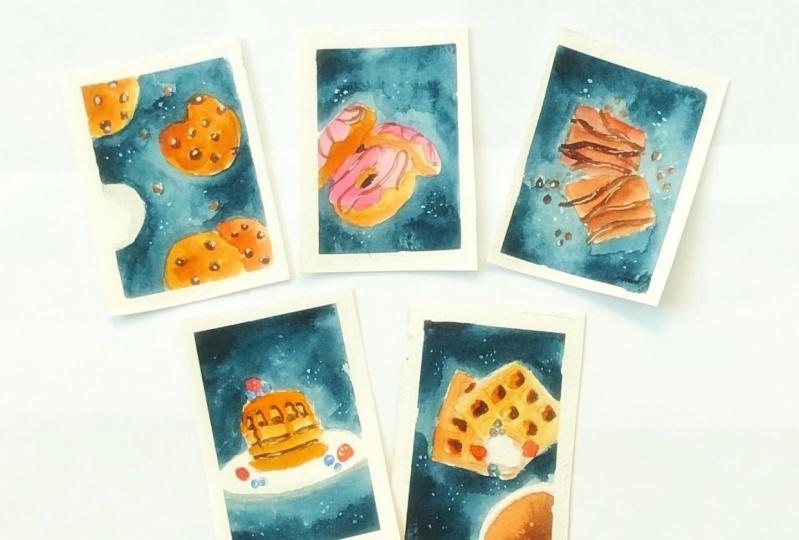 Watercolor food illustration