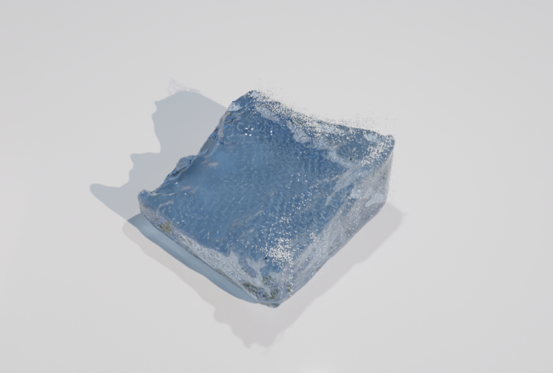 Blender - Fluid animation #1