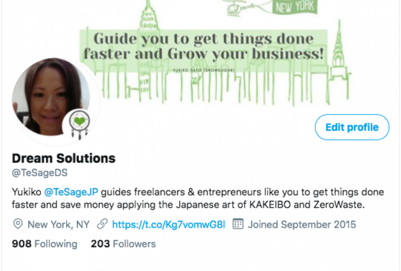 TeSage Dream Solutions - Twitter Profile