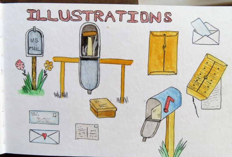 Fun spot illustrations