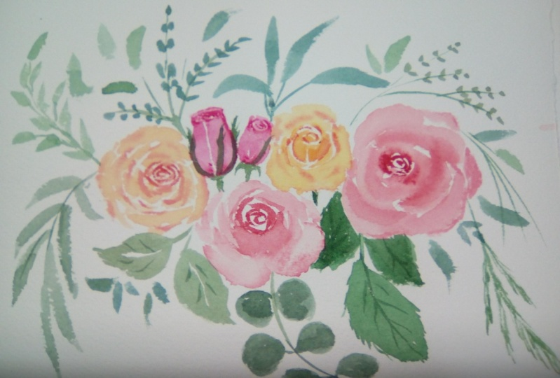 Composición de rosas