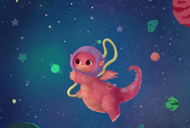 Luna, the Space Dragon