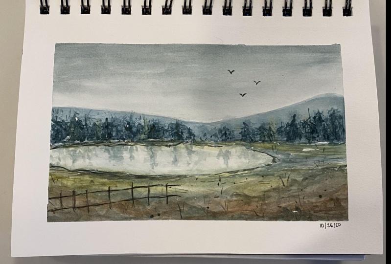 Loose Watercolor Landscape