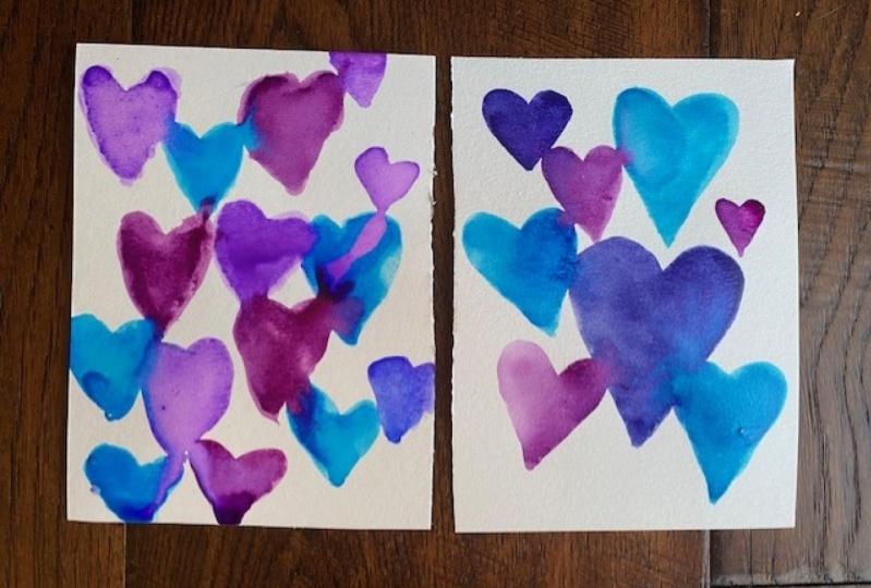 Mother daughter watercolor class!