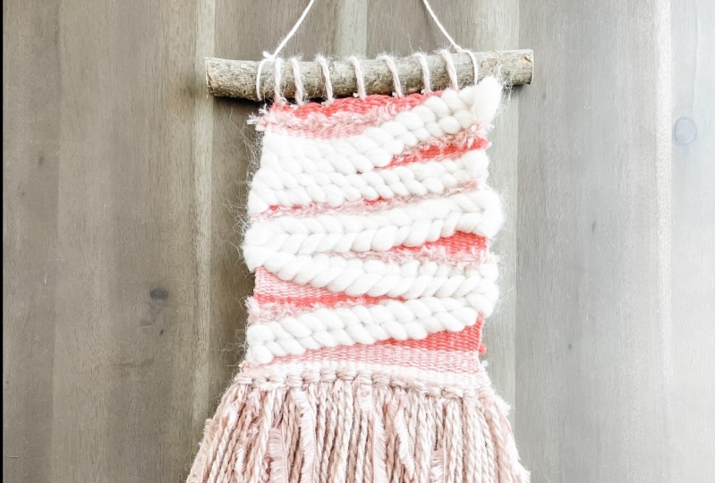 Coral Woven Wall Hanging