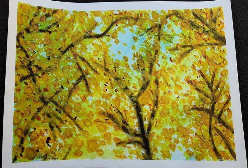 Taylor's Watercolor Painting: Enchanting Autumn Landscape