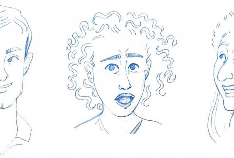 Facial Expression Pencil Sketches